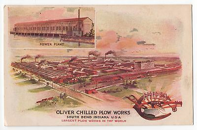 1910c~Wm. J. OLIVER CHILLED PLOW WORKS & POWER PLANT~South Bend,IN~Agriculture