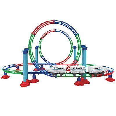NEW Looping Train Grand Roller Coaster Kit Fun Action Toy Assemble 112 Pieces