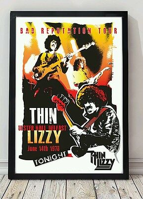 Thin Lizzy poster. Celebrating famous venues and gigs. Specially created.