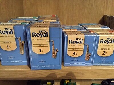 Rico ROYAL Saxophone reeds - All types - All strengths - Singles *REDUCED*