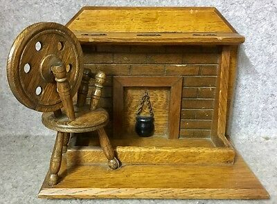 Vintage Pipe Rack from Tallent Old Bond Street  Fire Place and Spinning Wheel