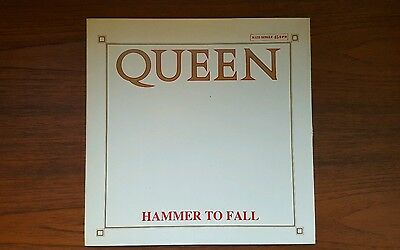 """Queen 12"""" Hammer to fall spanish edition very hard to find in this condition"""