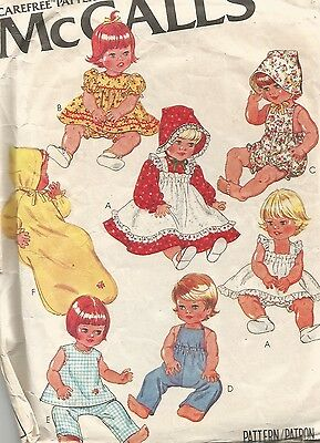 6366 McCalls Sewing Pattern 15.5 & 17 inch Baby Doll Clothes Dress Pinafore
