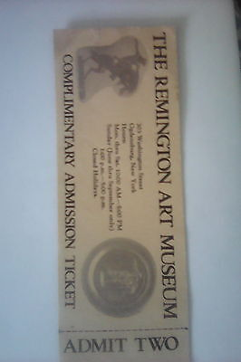 Ticket for Two to The  Frederick Remington Art  Museum