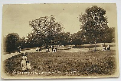 BY THE LOWER LAKE SOUTHAMPTON COMMON PHOTO POSTCARD No 1326 HAMPSHIRE