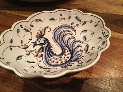 hand painted portuguese dish