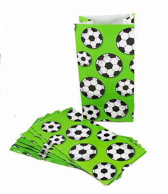 12 Soccer Print Bags Party Favor Loot Candy Treat Kids Birthday