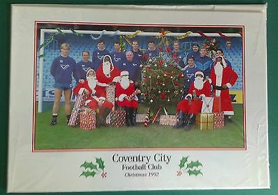 C1992-93 Coventry City - Rare Vip Club Christmas Card - Team Group In Colour