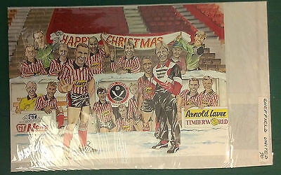 C1990 Sheffield United Rare Vip Christmas Card Issued By The Football Club
