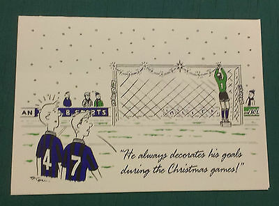C1993 Wigan Athletic  Rare Vip Christmas Card Issued By The Football Club