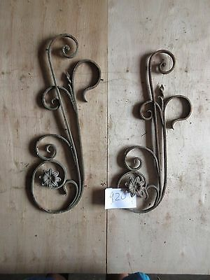 Antique Victorian Iron Gate Window Garden Fence Architectural Salvage #920