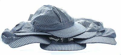 6 Kids Striped Train Conductors Engineers Hat Cap Railroad Party Favors