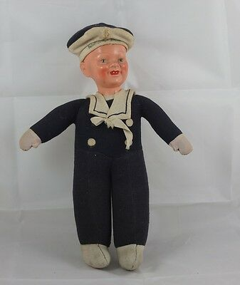 Antik Matrosen Puppe Schiffsjunge um 1900 antique sailor doll