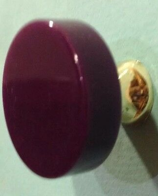 0ne Wilbec Retro Vintage 70's Purple & Gold Cupboard Knob - New Old Stock