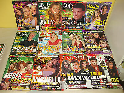 BUFFY & ANGEL MAGAZINES - Lot of 13 - YEARBOOK 2003 - Posters - BTVS Slayer VAMP