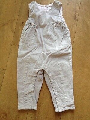 little white company girl's dungarees 12 - 18 months