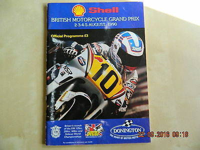 Motorcycle GP Programme, Donington 1990, With ticket! (official item).