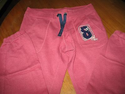 Girls M&S Angel range joggers in salmon pink, size small and cuffed legs/pockets