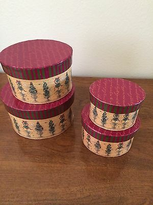 Stackable Christmas & Winter gift boxes - set of 4