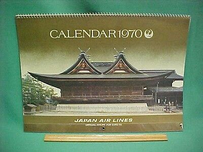 Vintage 1970 Japan Air Lines Airlines JAL Expo 70 Calendar