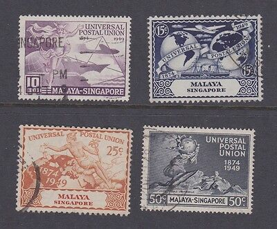 Stamps Singapore 1949 used UPU set