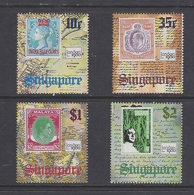 Stamps Singapore 1980 MNH Stamp Exhibition set