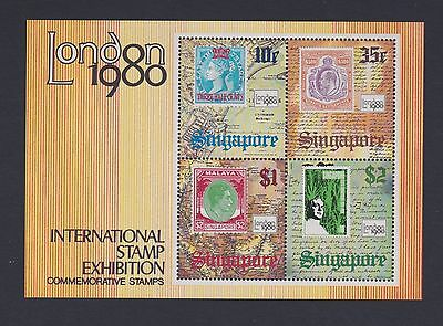 Stamps Singapore 1980 MNH Stamp Exhibition minisheet