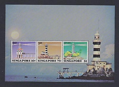 Stamps Singapore 1982 MNH Lighthouses minisheet