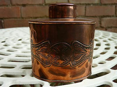 Art Nouveau Arts & Crafts Copper Tea Caddy Storage Jar Joseph Sankey & Sons JS&S