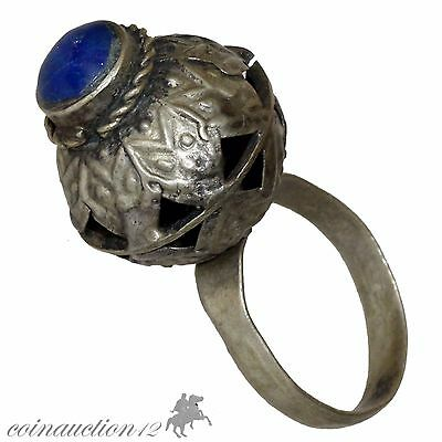 Intact Magical Silver European Ring 1400-1500 Ad