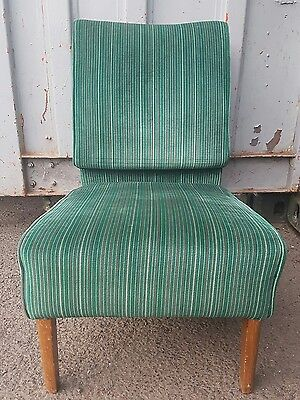 Green retro mid century 60s 70s lounge bedroom chair
