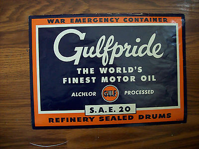 Gulfpride War Emergency Containes Decal NOS