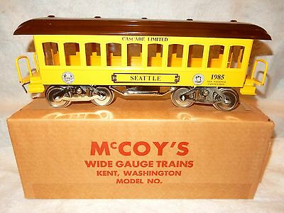 McCoy Manufacturing TCA standard gauge 31st National convention car-new look!--