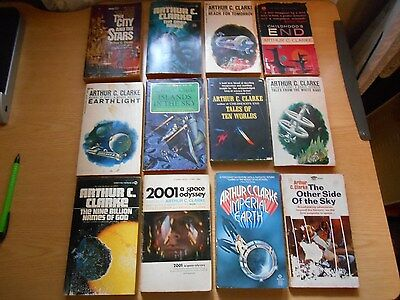 Arthur C. Clake Collection Lot of 12 paperback books