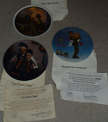 Lot Of 3 Norman Rockwell Collector's Plates 1981
