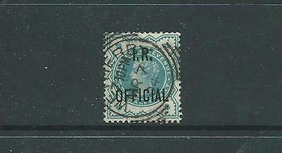 SG O17, 1/2d BLUE-GREEN WITH I.R. OFFICIAL FINE USED
