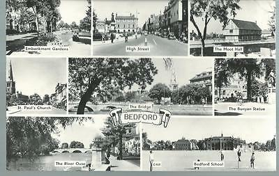 Old Postcard    Eight Views   Bedford      Posted  1964