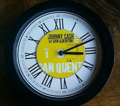 Johnny Cash At San Quentin Cd Wall Clock Christmas Present Gift Idea Country