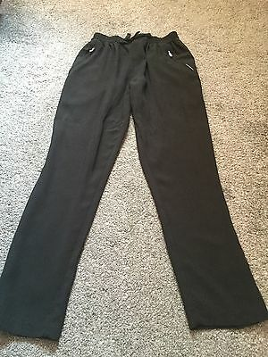 girls black tracksuit bottoms