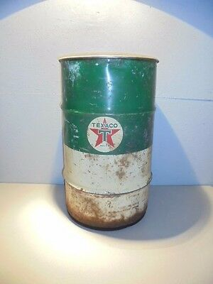 Vintage Texaco Grease Barrel 100 LB Man Cave Garage Decor Trash Can
