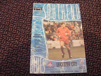 Southend United V Leicester City Division 1 Dec.5Th 1993