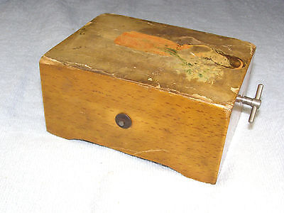 Circa 1930s Two Song Swiss Music Box - Song List, Side Wind