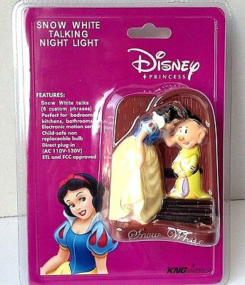 "Snow White Talking Night Light with ""Custom Phrases"" Dopey"
