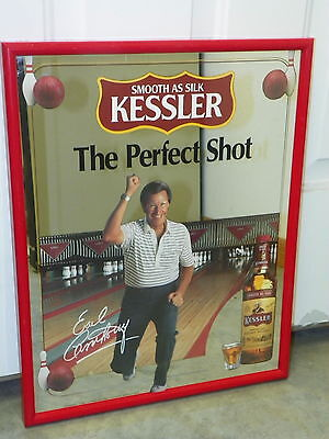 Vintage KESSLER Perfect Shot Mirror Bowling Man Cave Bar Retro Decor     O3