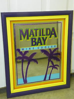 "Vintage MATILDA BAY Wine Cooler Mirror 16"" x 19"" Man Cave Bar Retro Decor     O3"