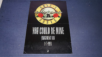 Guns 'N' Roses - You Could Be Mine - 1991 UK Promo Poster