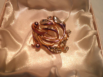Vintage Jewellery – Signed –Movitex- Calla Lily - Nouveau-Flower Brooch