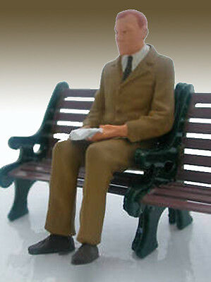 G Scale Preiser Figure Seated Melvin Painted