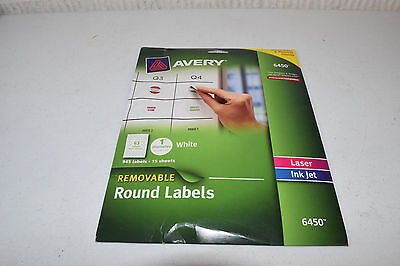 Avery Removable Round Labels 1-Inch Diameter White Pack of 945 6450