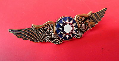 Flying Tigers Pilot Wings With Hard Fired Enamel Center